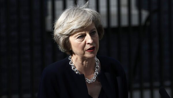 Britain's Prime Minister, Theresa May, speaks outside number 10 Downing Street, in central London - Sputnik International