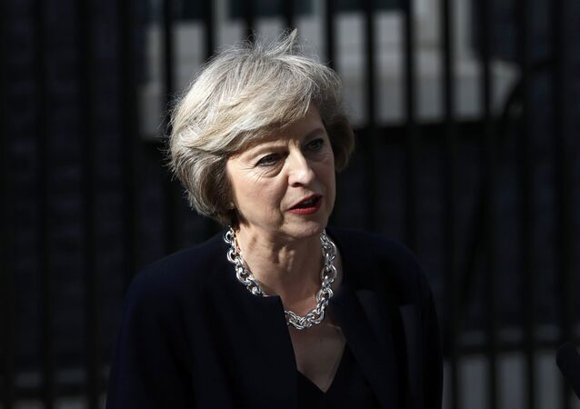 Britain's Prime Minister, Theresa May, speaks outside number 10 Downing Street, in central London
