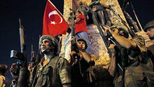 Turkey Coup With Flag - Sputnik International
