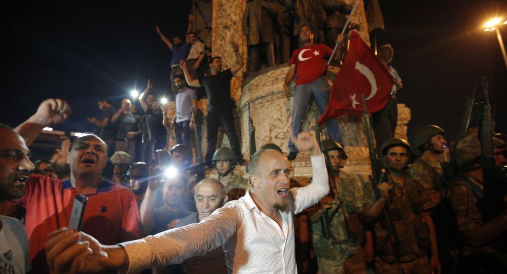 Turkey Coup Taksim Square Protestors