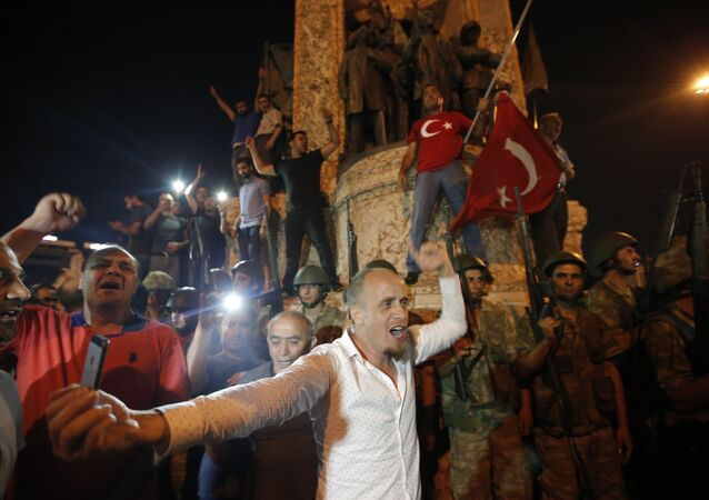 Turkey Coup Taksim Square Protestors