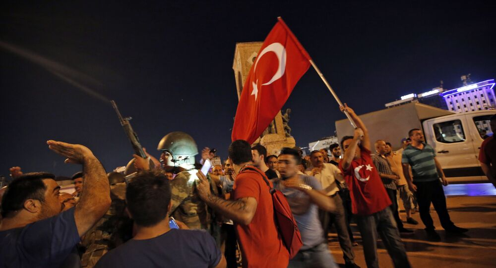 Turkish Protestors Stand Their Ground In Front Of Soldiers