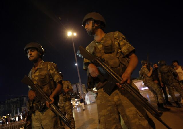 Turkey Coup Soldiers Stand Among Protestors