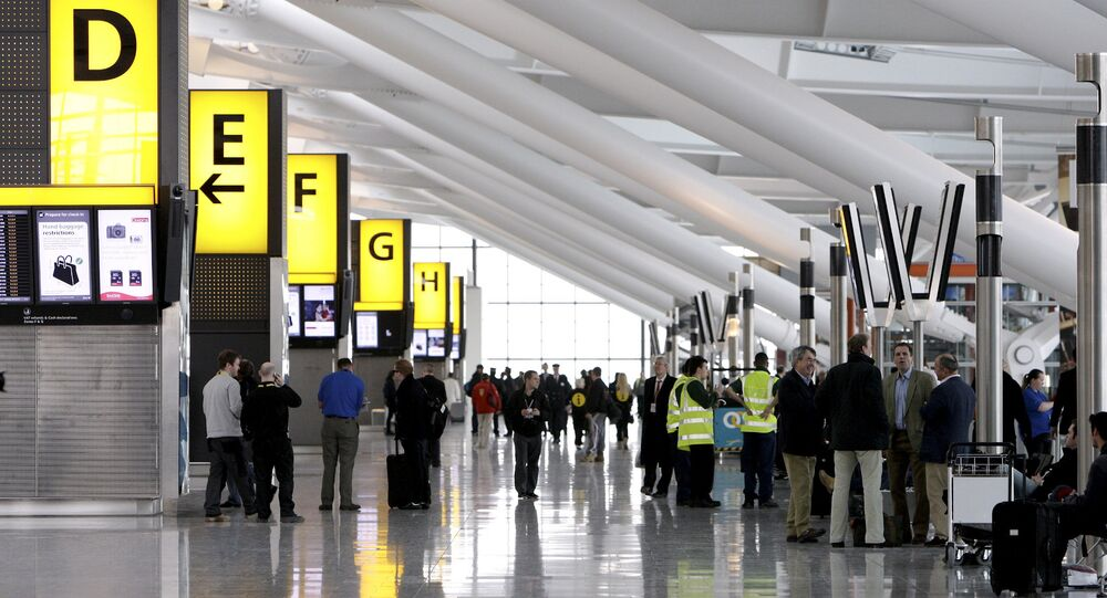Heathrow Airport's Terminal Five in London, UK