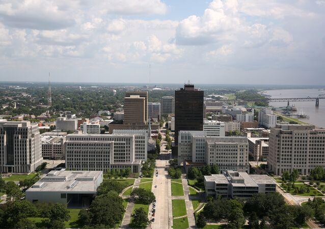 A cross section of downtown Baton Rouge is seen in Louisiana, U.S. July 16, 2016