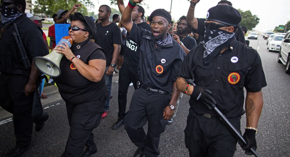 New Black Panther Party Protests Death of Alton Sterling in Baton Rouge