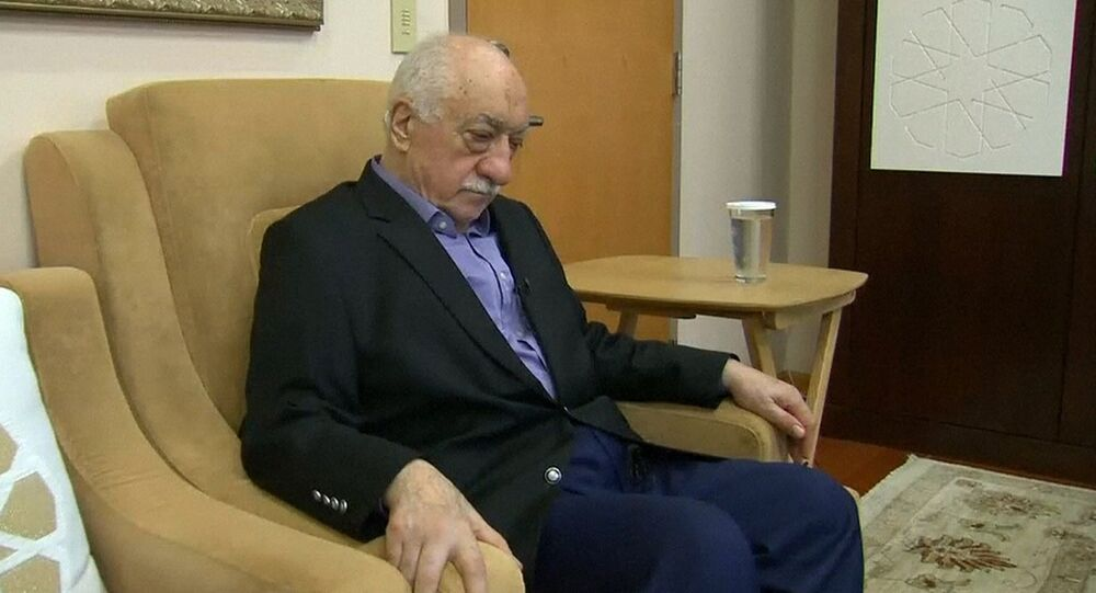 US-based cleric Fethullah Gulen, whose followers Turkey blames for a failed coup, pauses before speaking to journalists in this still image taken from video, at his home in Saylorsburg, Pennsylvania July 16, 2016.