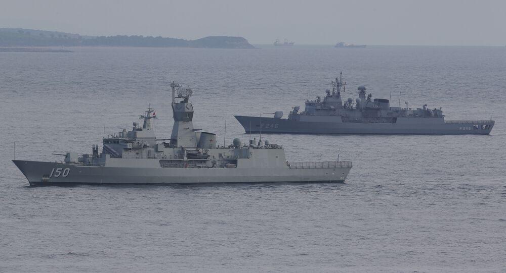 Turkish navy ships. File photo