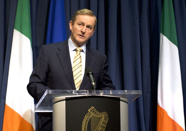 Ireland's Prime Minister Enda Kenny addresses journalists during a press conference in Dublin, Ireland, on June 24, 2016, following the result of the United Kingdom's EU referendum.