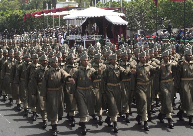 Moroccan Army soldiers parading in Rabat, Morocco (File).