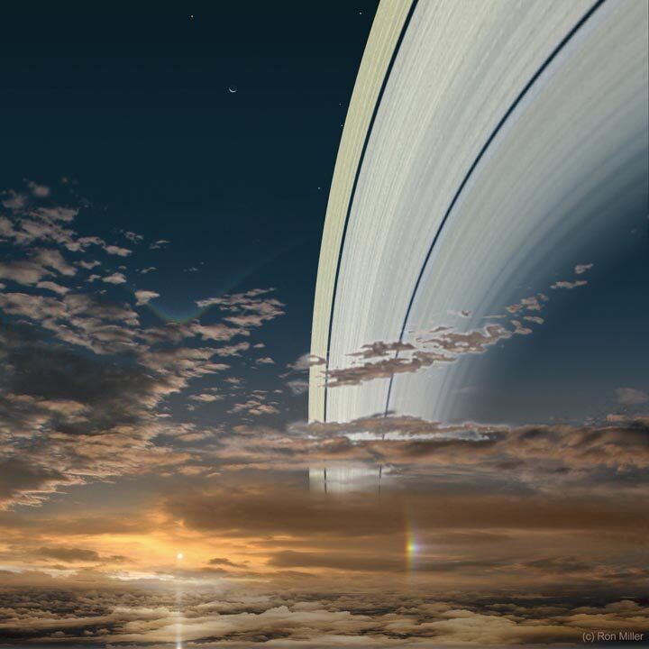 Sunset in Space: Stunning Vistas of Our Solar System