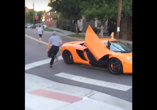 $250,000 car gets windshield SMASHED by kid on a skateboard