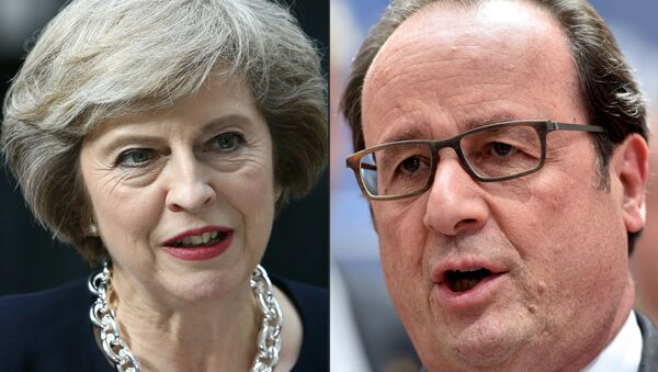 British PM Theresa May and French President Francois Hollande - Sputnik International