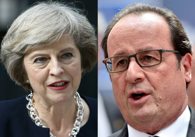 British PM Theresa May and French President Francois Hollande