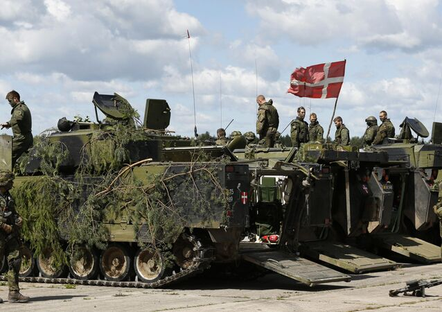 Danish soldiers during a military exercise at the Rukla military base some 120 km. (75 miles) west of the capital Vilnius, Lithuania (File)