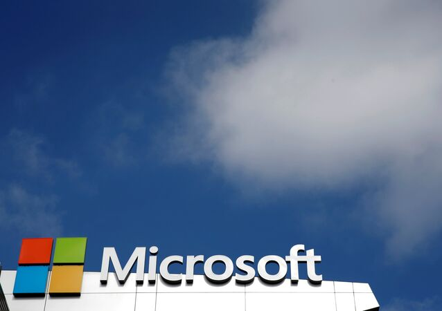 A Microsoft logo is seen next to a cloud in Los Angeles, California, U.S. June 14, 2016.