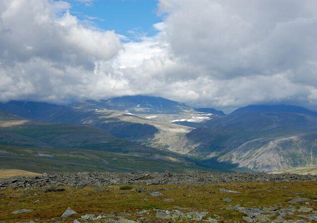 The Urals highest summit--Mount Naroda