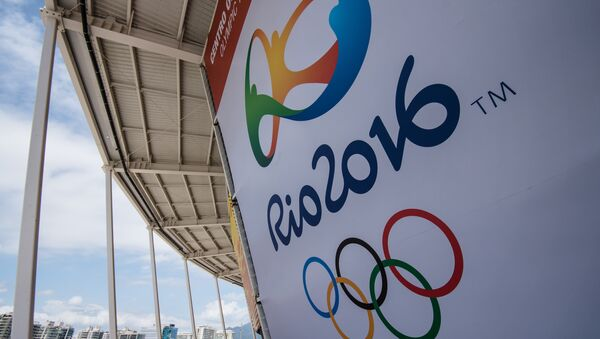 A banner with the Olympic logo for the Rio 2016 Olympic Games seen at the Olympic Tennis Centre of the Olympic Park in Rio de Janeiro, Brazil, on December 11, 2016 - Sputnik International