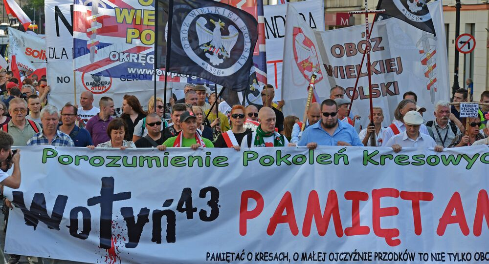 Rally in Warsaw on Volyn massacre anniversary