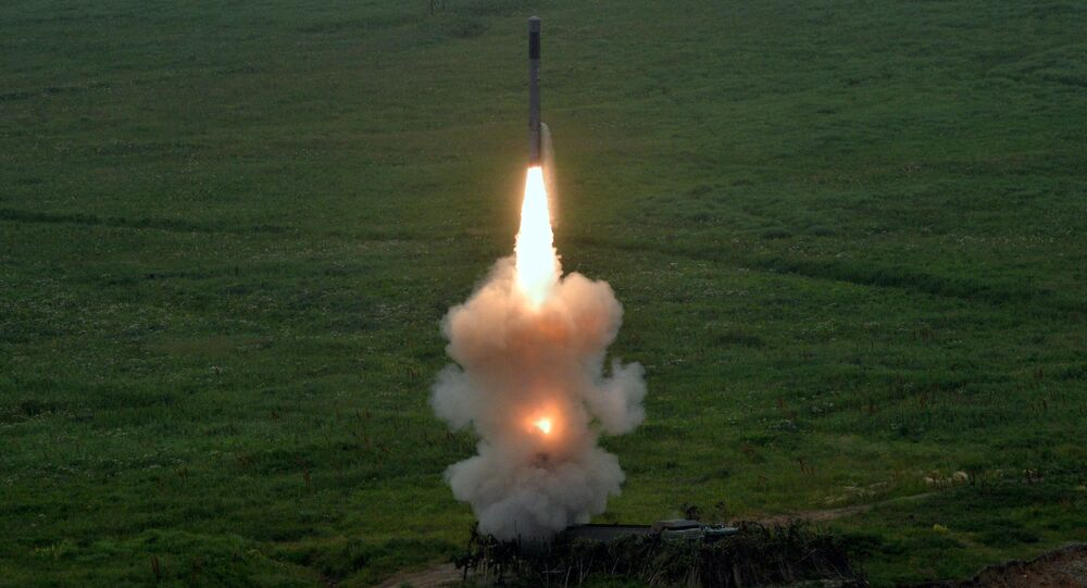 A missile launch from a new Bastion coastal defense missile system which entered service in the Pacific Fleet coastal units in 2016