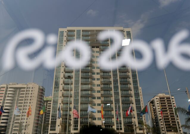 General view of athletes' accommodation can be seen during a guided tour for journalists to the 2016 Rio Olympics Village in Rio de Janeiro, Brazil, July 23, 2016.