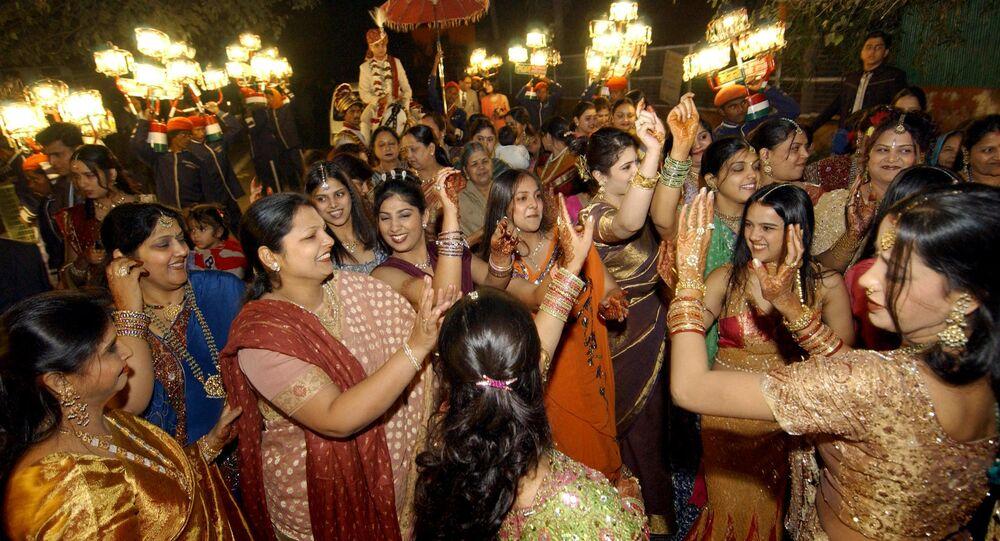 Indian wedding celebration