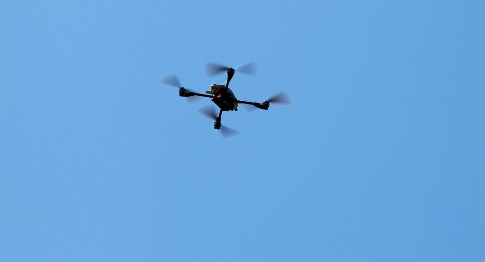 U.S. Marines fly a Grp I UAS: Instant Eye drone as part of the Rim of the Pacific (RIMPAC) 2016 exercise held at Camp Pendleton, California United States, July 13, 2016.