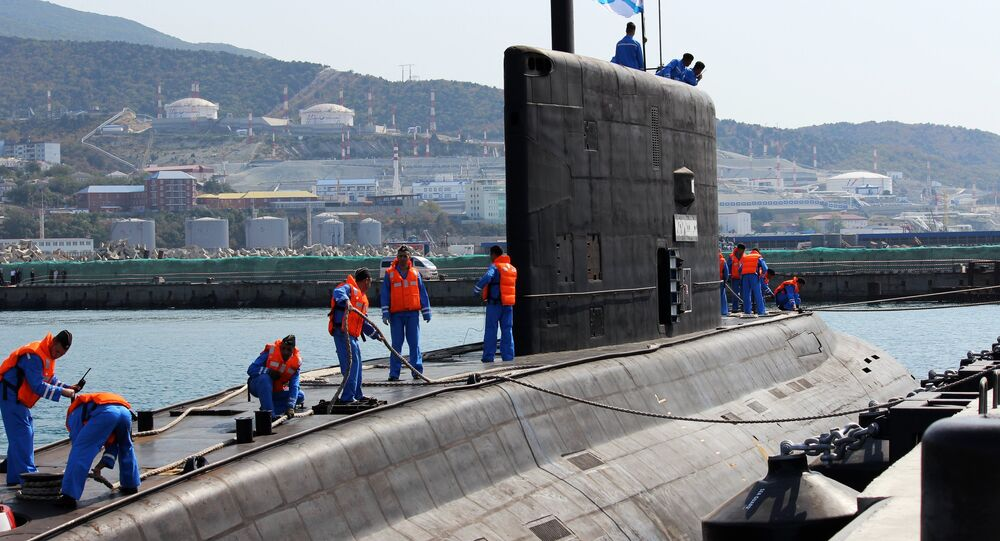 The diesel-electric submarine Novorossiysk has arrived at her basic site at the Novorossiysk naval base