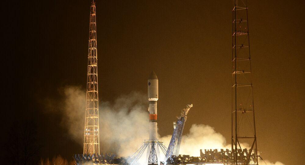 Launch of rocket carrier Soyuz-2.1b