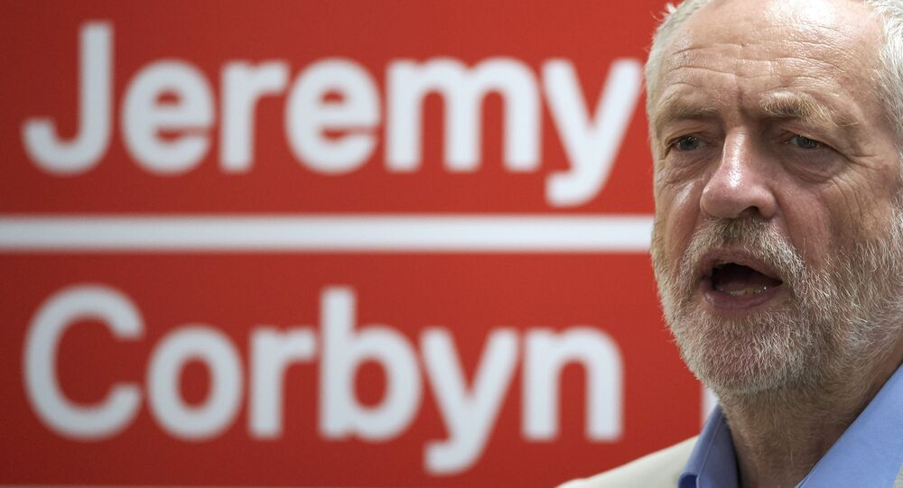 Jeremy Corbyn, leader of the opposition British Labour Party speaks at a press conference in London on July 21, 2016 to launch his leadership campaign after a challenge from Owen Smith.