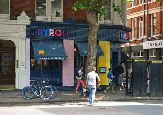 Byron Burger shop in London.