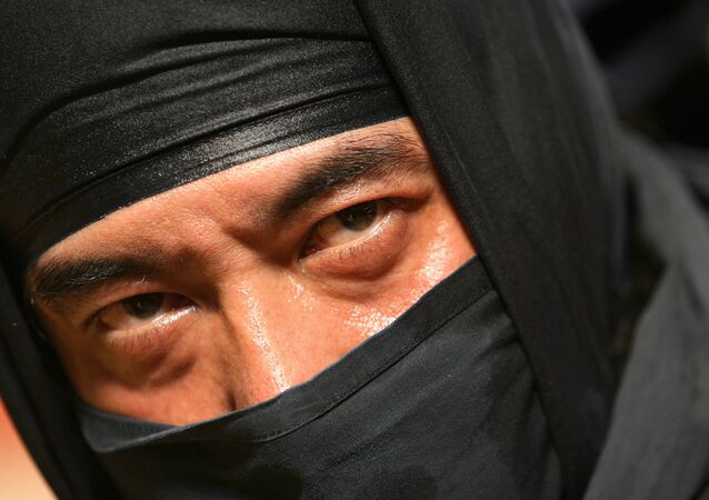 A Japanese Iga-ryu Ninja poses after a performance during a Japanese Cultural Festival in Hong Kong (File)