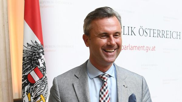 The third President of the National Council and far-right FPOe presidential candidate Norbert Hofer attends a press conference on the annulation of the last presidential election on July 1, 2016, in Vienna - Sputnik International