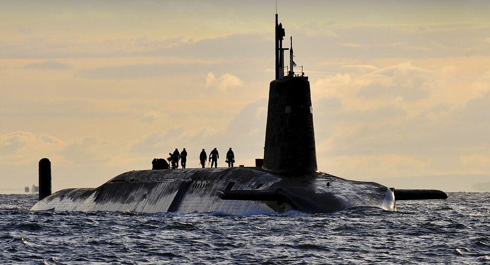 HMS Vanguard arrives back at HM Naval Base Clyde, Faslane, Scotland following a patrol. (File)