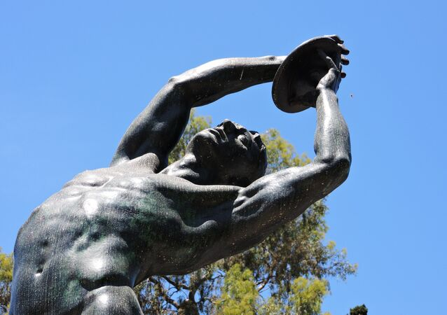 Discobolus (Discus thrower), Panathenaic Stadium, Athens
