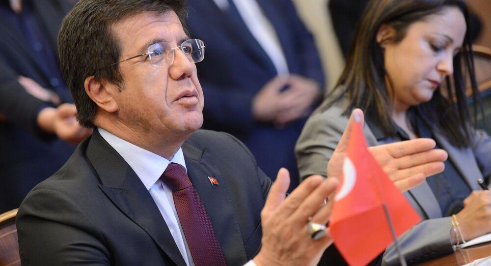 Turkish Economy Minister Nihat Zeybekci