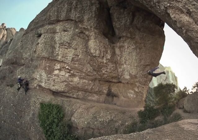 Unbelievable Wingsuit Cave Flight! Batman Cave, Alexander Polli