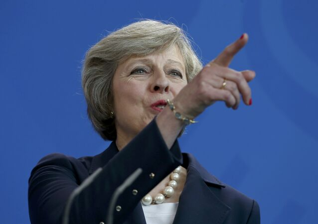 British Prime Minister Theresa May addresses a news conference following talks with German Chancellor Angela Merkel at the Chancellery in Berlin, Germany July 20, 2016.