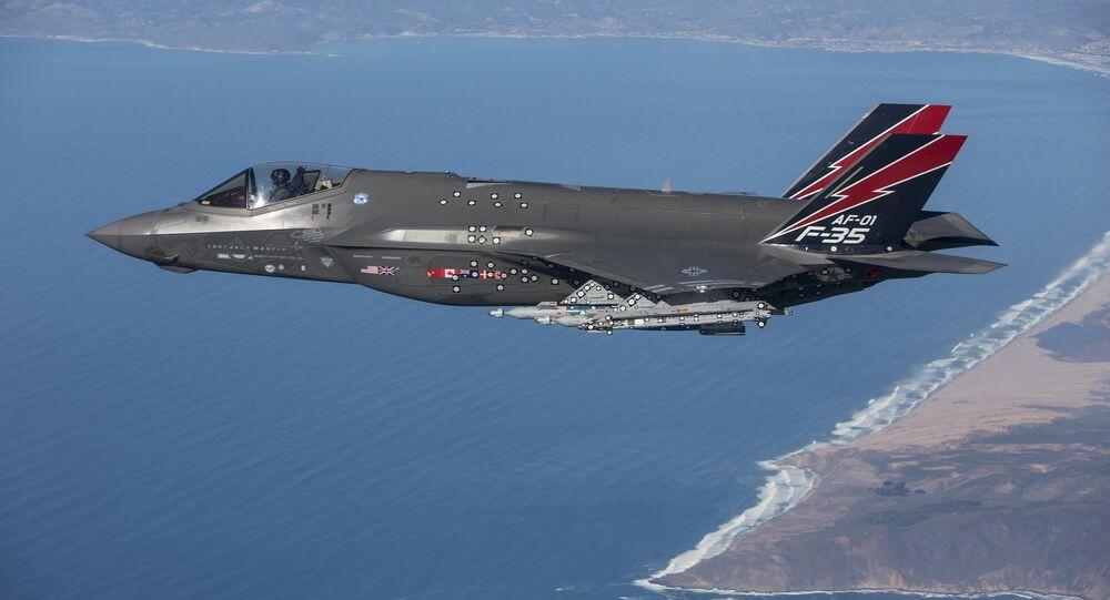 An F-35 Lightning II performs a test flight near Edwards Air Force Base, Calif.