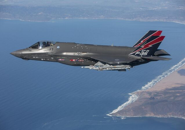 An F-35 Lightning II performs a test flight near Edwards Air Force Base, Calif.
