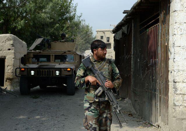Afghan security forces patrol. (File)