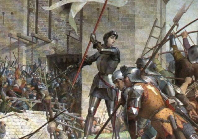 Jeanne d'Arc at the Siege of Orléans by Jules Eugène Lenepveu, painted 1886–1890