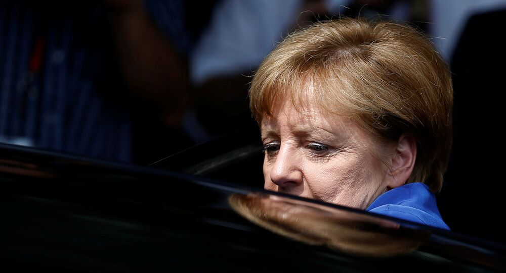 German Chancellor Angela Merkel leaves a news conference in Berlin, Germany (File)
