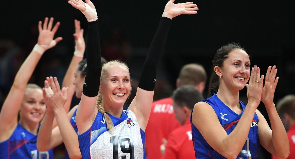 Olympics 2016 Volleyball. Women. The match Russia - Argentina