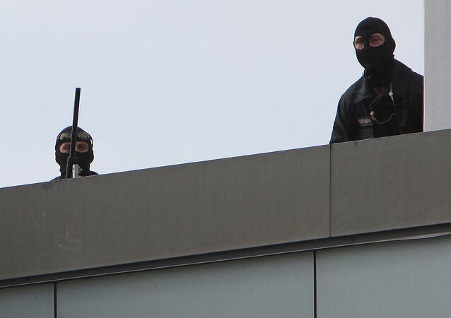 Snipers of German special police. Saarbruecken, Germany (File)