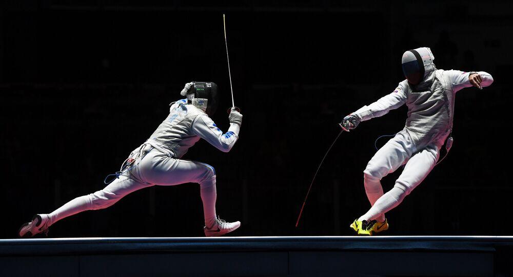 Olympics 2016. Foil fencing