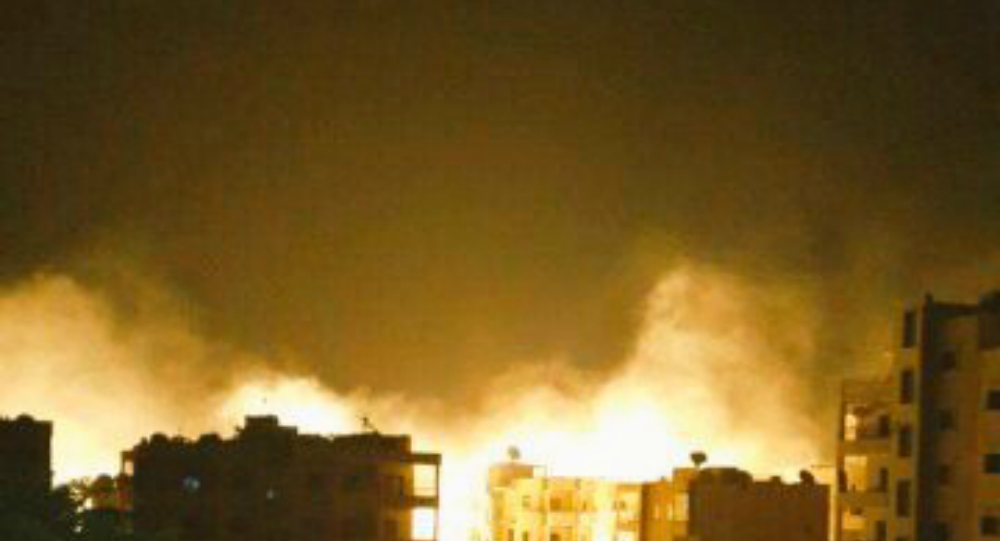 Russia and Syria Strike al-Nusra stronghold of Idlib City on August 7