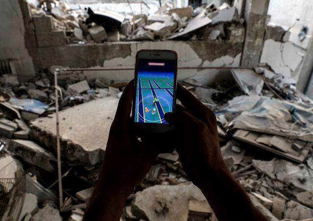 A Syrian games plays Pokemon Go