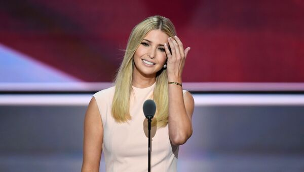Republican presidential candidate Donald Trump's daughter Ivanka addresses delegates on the final night of the Republican National Convention, 2016 - Sputnik International