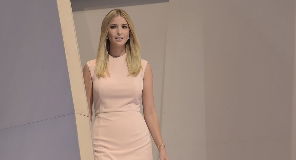 Ivanka Trump arrives to speak on the last day of the Republican National Convention on July 21, 2016, in Cleveland, Ohio